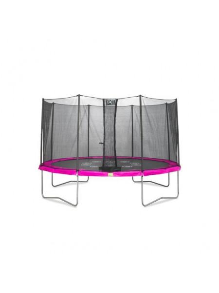 Батут EXIT Twist ø366 cm розовый/серый