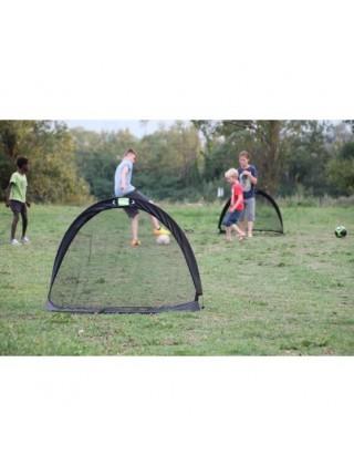 Футбольні ворота EXIT Flexx 120x80 см чорні 2 штуки