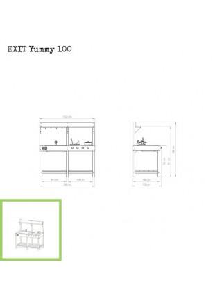 Игровая кухня деревянная EXIT Yummy 100