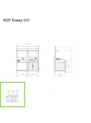 Игровая кухня деревянная EXIT Yummy 200