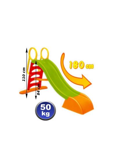Горка пластиковая Яблочко 180см