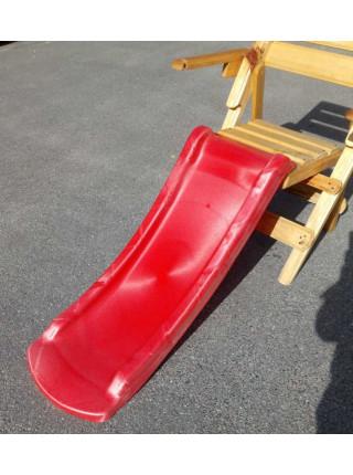 Горка пластиковая красная 120 см