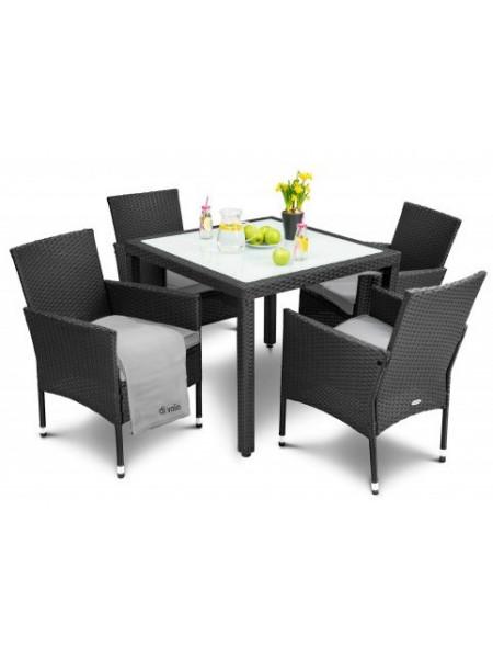 Набор мебели для сада VERONA 4+1 чёрный