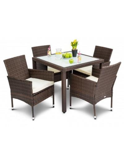 Набор мебели для сада VERONA 4+1 коричневый