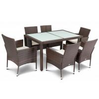 Мебель садовая VERONA 6+1 коричневый