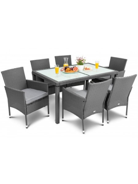 Мебель садовая VERONA 6+1 серый