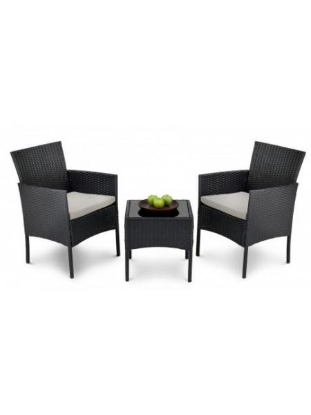Набор мебели для сада Siena чёрный