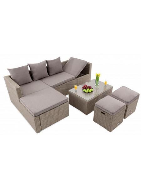 Садовый диван в комплекте Bologna бежевый