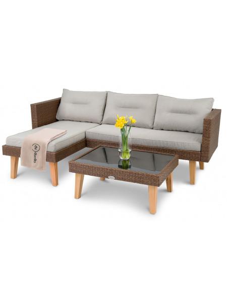 Комплект садовой мебели Imola коричневый