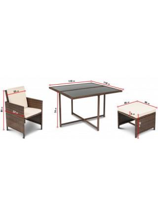 Набор мебели для сада PARMA 8+1 серый