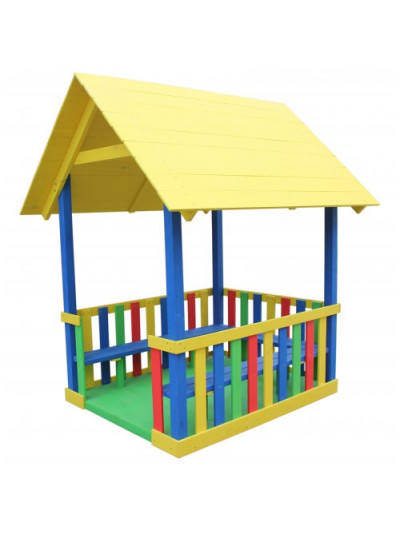 Дитячий будиночок-веранда Райдужний