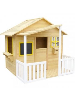 Деревянный детский домик с верандой