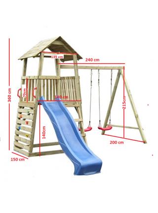 Деревянная детская площадка для дачи Бармалей
