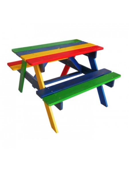 Дитячий столик з лавками для саду і вулиці Ір-1