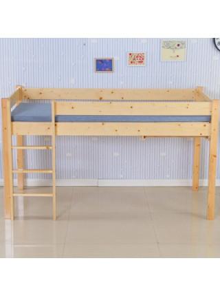 Кровать-чердак со столом и полками