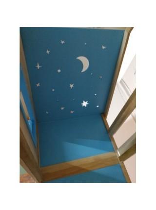 Ліжко двоярусне будиночок Зоряне небо