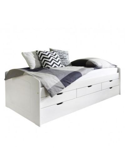 Детская кровать с выдвижным спальным местом Ясень