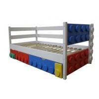 Детская кровать с бортиком Лего