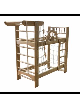 Ліжко двоярусне зі спортивним куточком 160 х 70 см