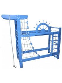 Двухъярусная кровать Морской пират 190х80 см сосна/ясень