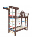 Двухъярусная кровать-спортивный уголок 160 х 70 см