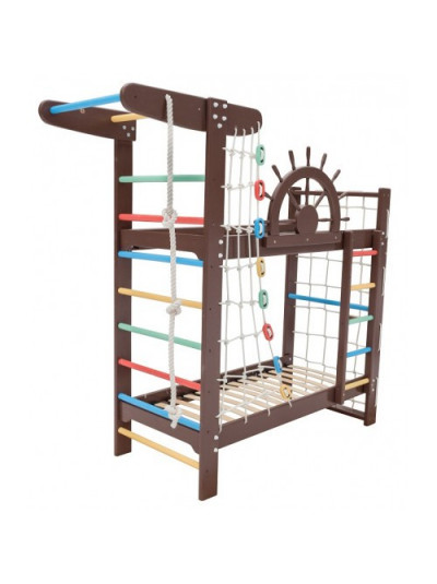 Двох'ярусне ліжко-спортивний куточок 190 х 80 см