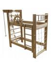 Кровать двухъярусная со спортивным уголком 160 х 70 см