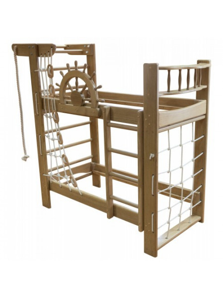 Кровать двухъярусная со спортивным уголком 190 х 80 см