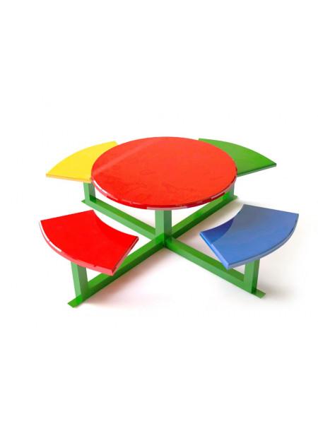 Дитячий столик з лавками