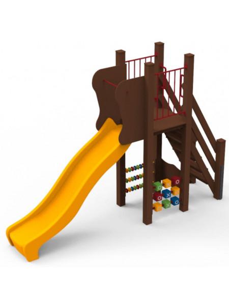 Гірка для дитячого майданчика Ослик 1.2 м.