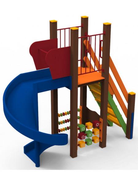 Гірка для дитячого майданчика Вихор 1.5 м.