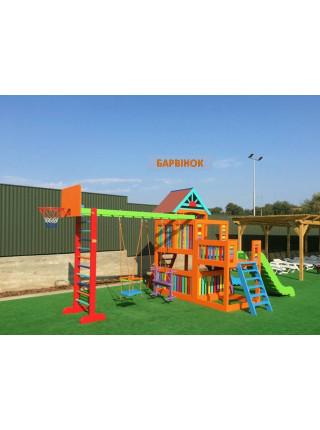 Ігровий дитячий майданчик Барвінок з двома гірками