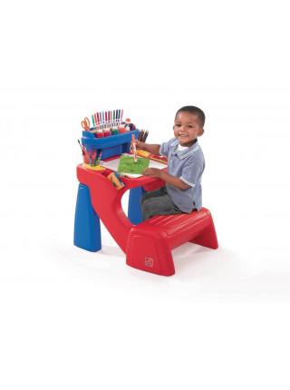 Детский стол для творчества со скамьёй