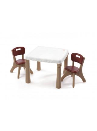 Дитячий столик зі стільчиками пластиковий