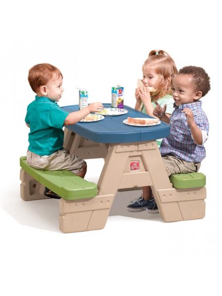 Стол со скамейками Сиди и играй