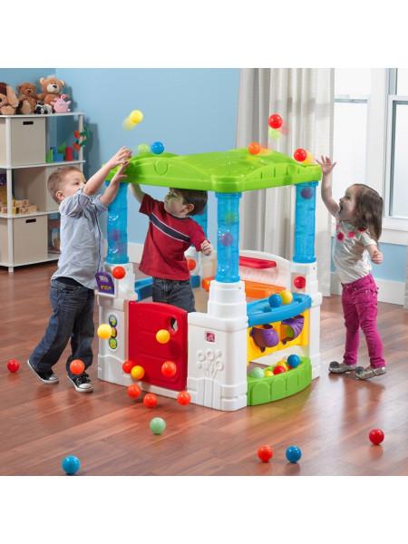 Детский домик-веранда с шариками