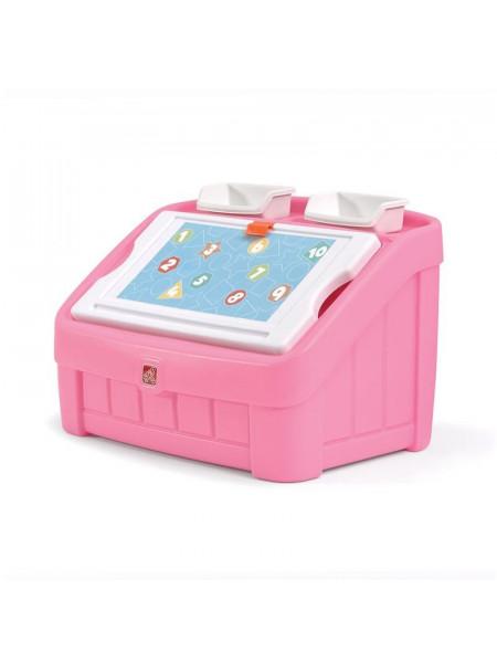 Комод для игрушек с доской для творчества
