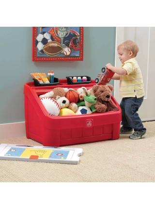 Ящик для іграшок з дошкою для творчості