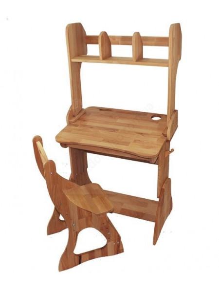 Комплект парта, стілець, полиця 60 см
