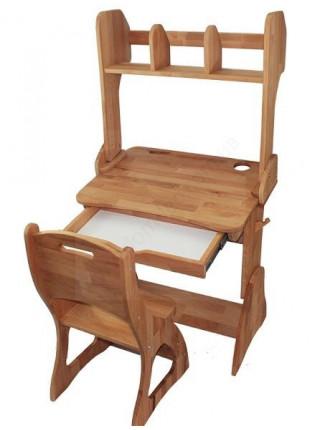 Комплект парта, стул, полка 60 см