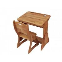 Комплект парта трансформер і стілець бук 70 см