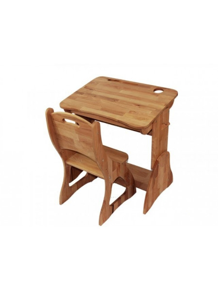 Комплект парта трансформер и стул бук 70 см