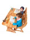 Парта трансформер для двух детей с ящиками