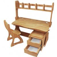 Комплект парта, стул, полка, тумба 120 см