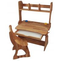 Комплект парта, стул, полка 90 см