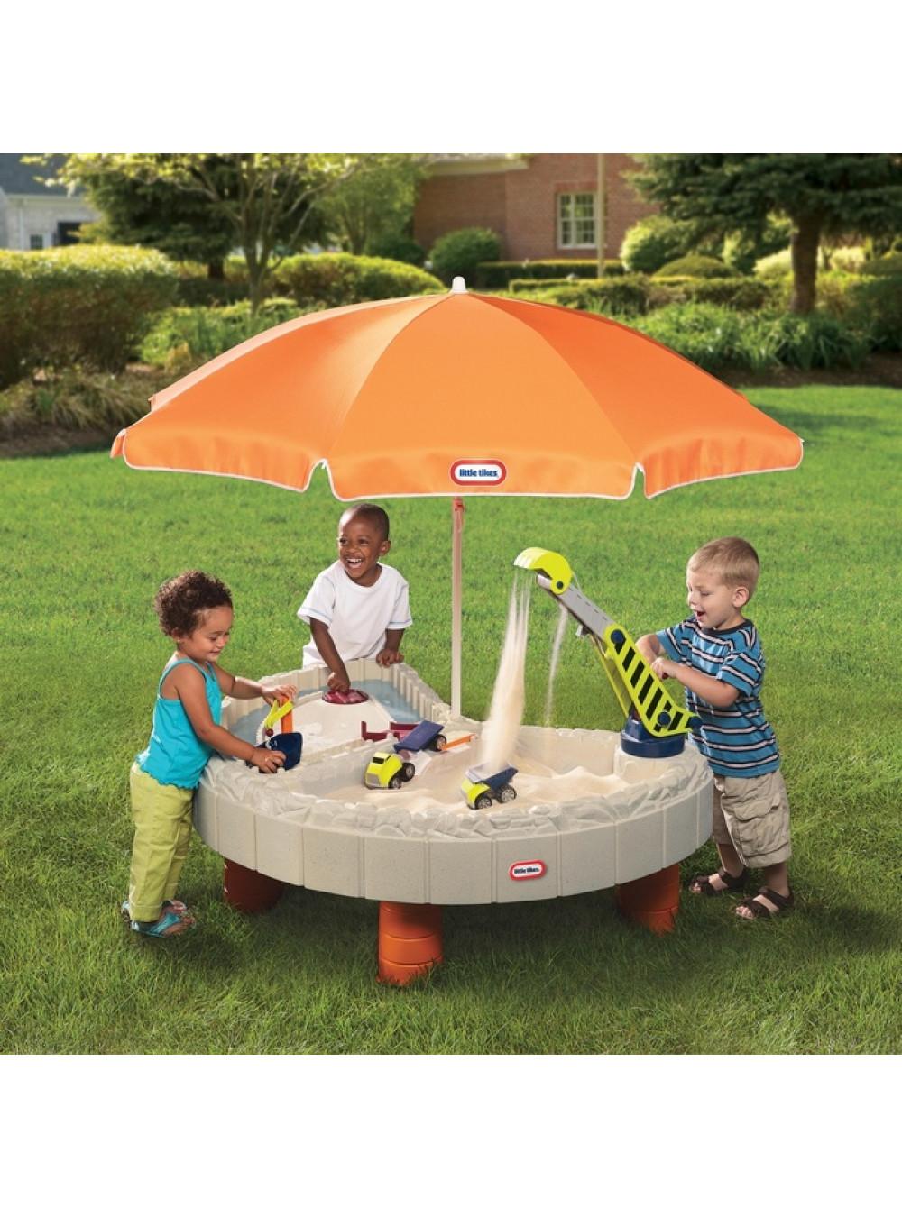 Дитяча пісочниця-стіл Веселе будівництво з парасолькою купити за ... 74d611adc3e4a