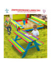Площадка детская Песочница 120 см + стол с лавками