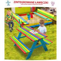 Площадка детская Песочница 150 см + качели + стол с лавками