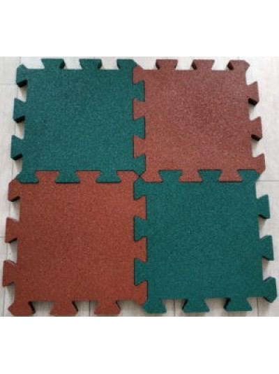 Резиновая плитка  455 х 455 х 20 мм