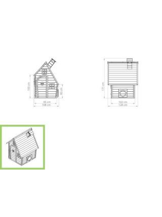 Дитячий дерев'яний будиночок Фантазія